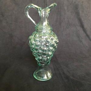 Pinoard Grape Blue/Green Glass Wine/Oil Decanter